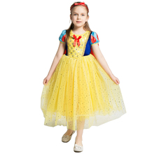 2019 Children Girl Snow White Dress For Girls Prom Princess Kids Birthday Gifts Party Clothes Halloween Costume