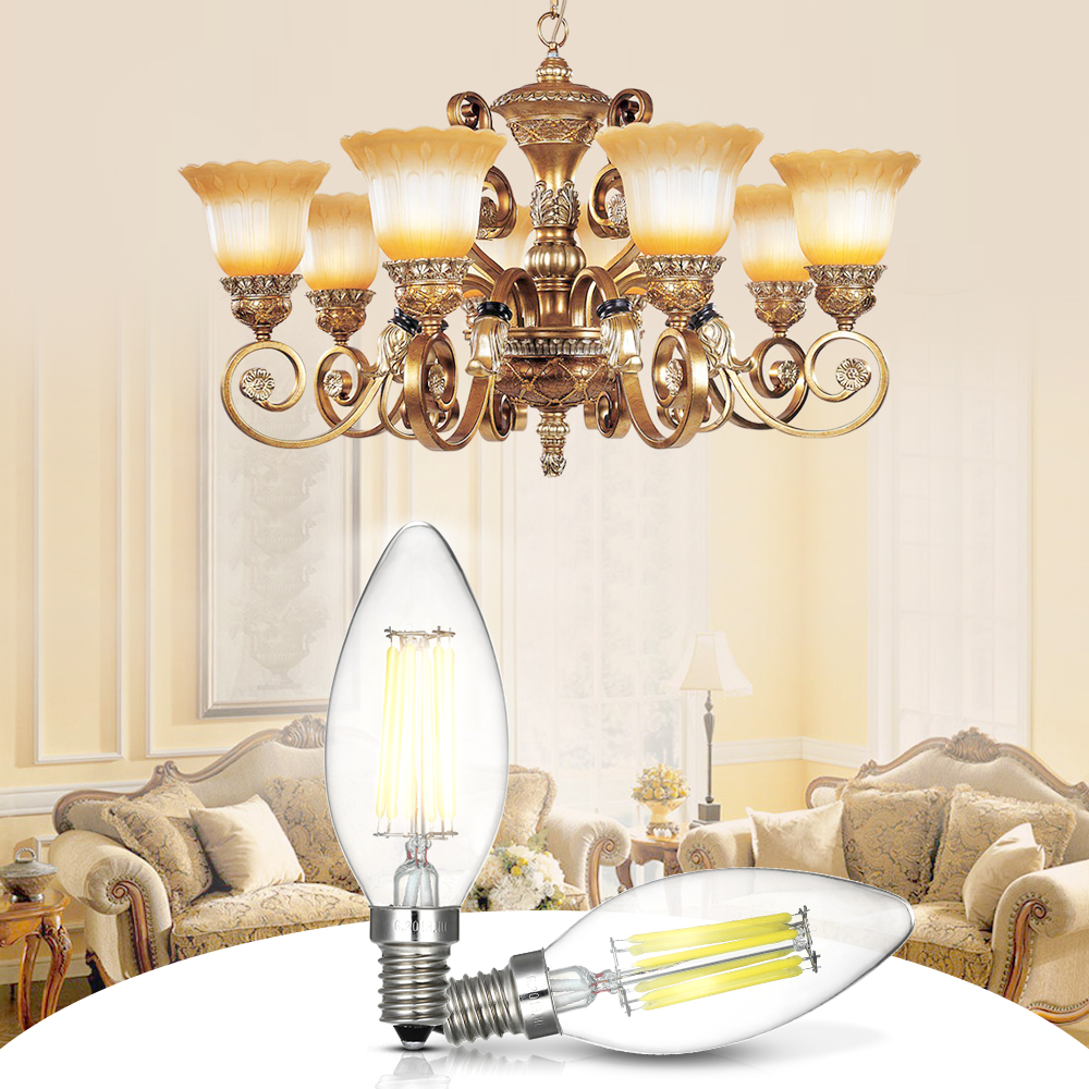 Beleuchtung 12 Candle Shape Lamp Chandelier Wall Ceiling Light Bulbs Energy Saving Dimmable Mobel Wohnen Elin Pens Ac Id