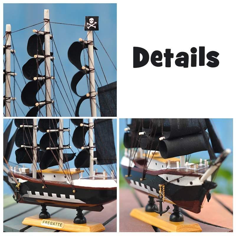 Lbla Diy Pirate Ship Model Assembling Building Kits Wooden Sailboat Toys Sailing Model Assembled Wooden Kit Kids Toy Gift Toys & Hobbies