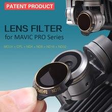 Sunnylife 3/4 sztuk zestaw filtrów obiektywu UV MCUV CPL ND ND4 ND8 ND16 ND32 dla DJI Mavic Pro Gimbal akcesoria do aparatu