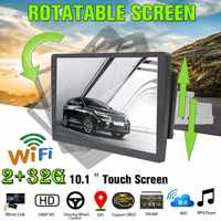 2G+32G Rotatable Car Multimedia Player 10.1for Android 8.0 1Din 8 Core Car Stereo GPS Nav WiFi Radio MP5 Player Universa
