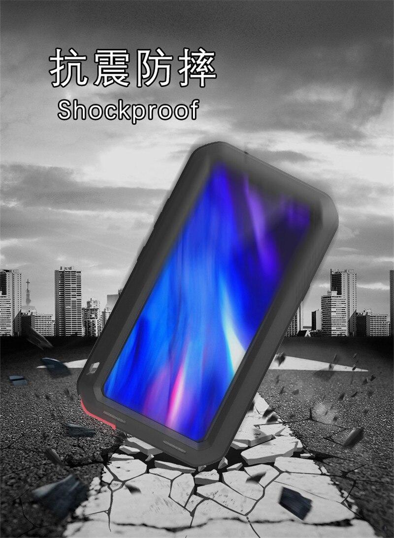Pour LG V40 ThinQ Armor boîtier antichoc en métal pour la vie en aluminium couverture étanche à la poussière pour LG V 40 V40 ThinQ sacs de téléphone