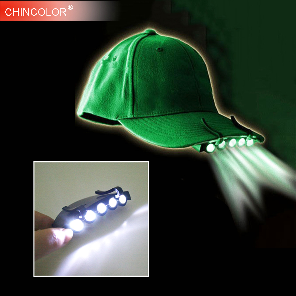 Head Lamp 5 LED Headlight For Camping Fishing Hiking Hat Torch Hunt Cap Outdoor Hat Torch Use White Color JQ