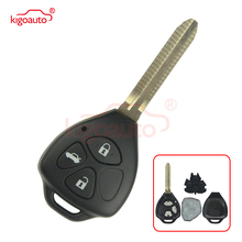 Kigoauto DENSO HYQ12BBY Remote key TOY43 3 button for Toyota Camry Corolla car key 2006 2007 2008 2009 2010+434mhz no chip kigoauto 2pcs smart key 3c0 959 752 ba id48 chip 3button 434mhz for vw magotan passat cc 2005 2006 2007 2008 2009 2010