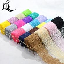 5 ярдов, 24 смешанных цвета, аксессуары для одежды, изысканный цвет, кружево, качественная ткань, кружево с эластичным кружевом, ширина 5,5 см, э...