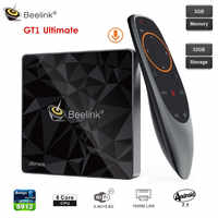 Beelink GT1 último dispositivo de TV inteligente Amlogic S912 Octa Core 3GB + 32GB Android 7,1 Control de voz Set Top Box BT 2,4G + 5,8G Wifi 1000M