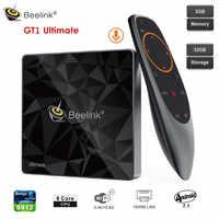 Beelink GT1 boîtier de télévision intelligent ultime Amlogic S912 Octa Core 3GB + 32GB Android 7.1 décodeur de contrôle vocal BT 2.4G + 5.8G Wifi 1000M