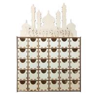 Plywood DIY Drawer Ramadan Mubarak Islamic Decor Ornaments Festival Party Supplies