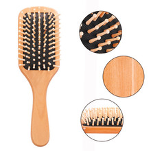 Natural Wood Paddle Brush Wooden Hair Care Spa Massage Comb Anti-static Comb Hair Styling Tool