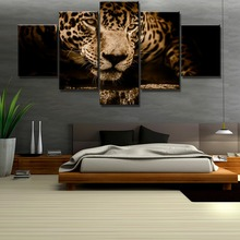 5 Piece HD Print Large Leopard Animal Cuadros Decoracion Paintings on Canvas Wall Art for Home Decorations Decor Artwork