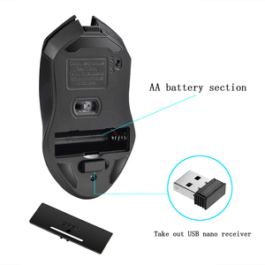 Image 4 - G817 Universal Adjustable 2400DPI PC Battery Powered 2.4G Wireless Gaming Mouse