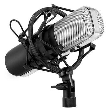 Micrófono Excelvan con forma de corazón modo de recogida direccional sonido de condensador profesional Podcast micrófono de estudio para ordenador portátil