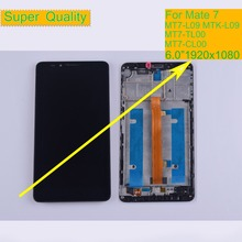 10Pcs/lot LCD For HUAWEI ASCEND MATE 7 LCD Display Touch Screen Digitizer Assembly With Frame MT7-L09 MTK-L09 MT7-TL00 MT7-CL00 original 5pcs for huawei ascend mate7 mate 7 lcd display touch screen digitizer high quality assembly frame with logo free dhl
