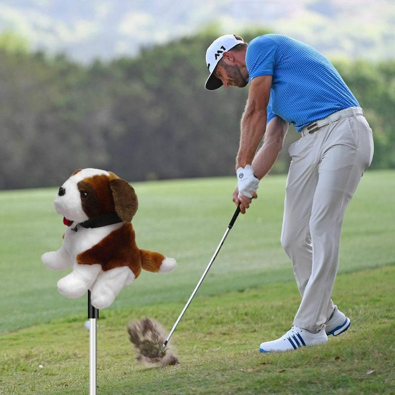 Cartoon Golf Club Head Protective Cover Animal Headcover for 460CC No.1/3/5 Driver Wood Club-Making Products Golf Accessories