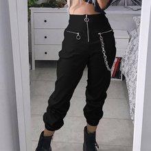 Лучший!  Женские спортивные штаны Goth Hipster Spring Повседневные брюки Бегунов Девушка Harajuku Streetwear  Лучший!