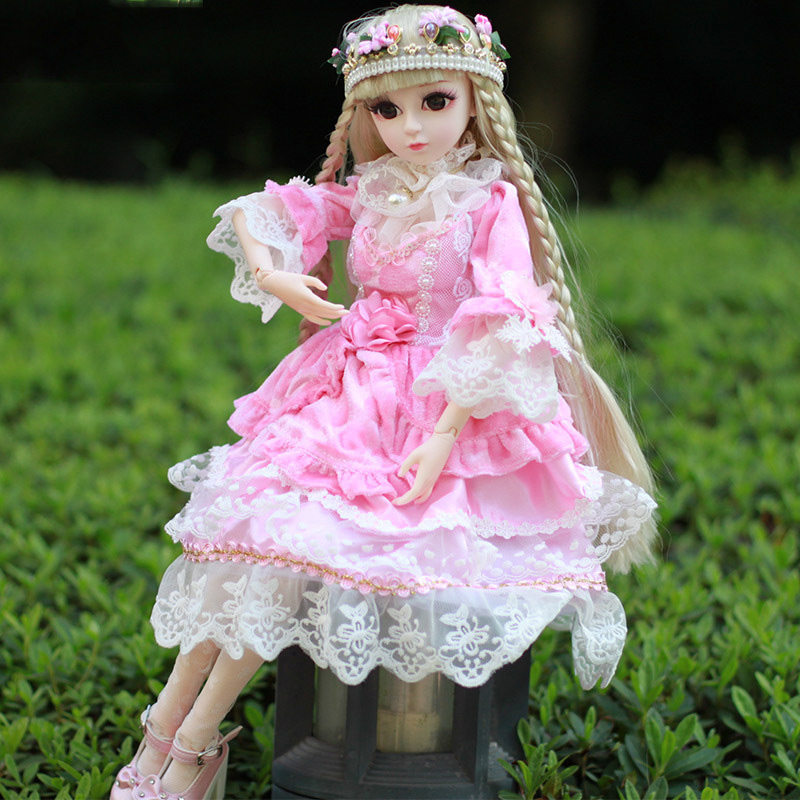 1/3 60cm Tall Doll Girl Dolls Princess Toy Cosplay Collection Kids Girls Gift disney princess brass key 2003 holiday collection porcelain doll snow white