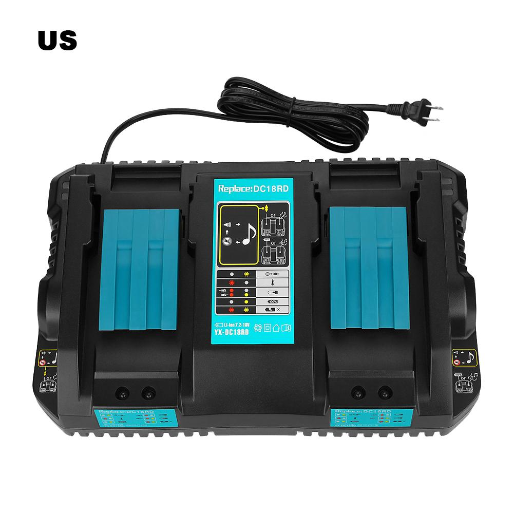 100% Brand New 14.4-18V Tool Lithium Battery DC18RC Fast Charger For Makita Double Charge Rechargeable Battery Power Tool100% Brand New 14.4-18V Tool Lithium Battery DC18RC Fast Charger For Makita Double Charge Rechargeable Battery Power Tool