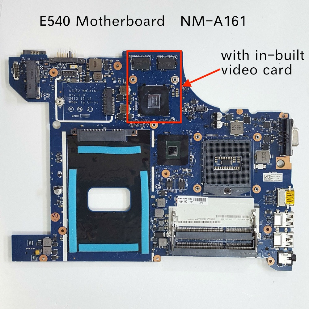 Free Shipping for Lenovo ThinkPad Edge E540 Laptop Motherboard AILE2 NM-A161 with in-built GPU free shipping kind shooting motherboard bn41 01372a for t315ha01 db 32inch display la32c350d1 in stock