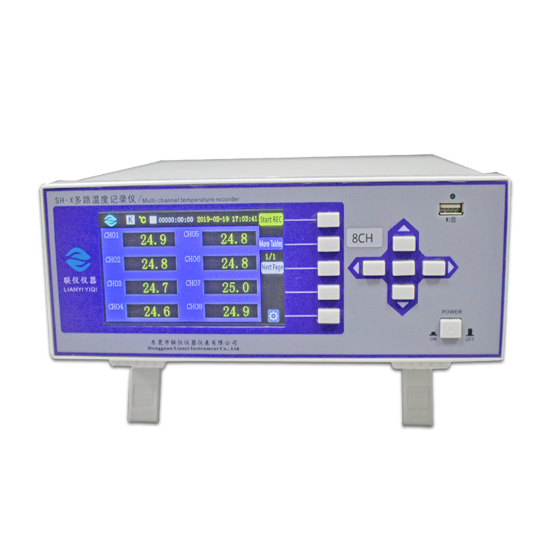 LianYi SH-X Temperature Recorder Multi-channel Industrial Digital Thermocouple Thermometer Tester High Temperature Data Logger