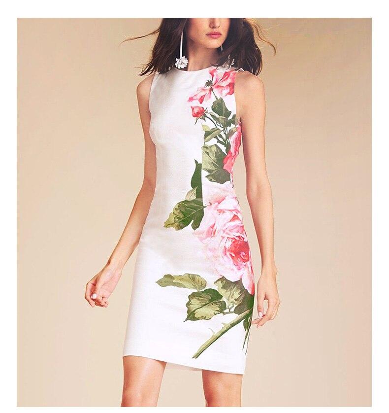 Видеть Оранжевый Новый красная роза печати платье макси Для женщин Белое платье 2018 взлетно посадочной полосы повседневные летнее шифоново