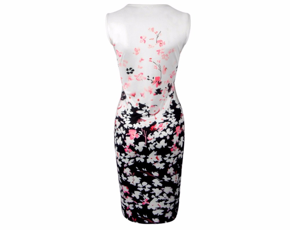 Women Modern Fit Bodycon Slim Sexy Floral Print Sleeveless Dresses Jumper summer sea beach party night sexy club Vestidos in Dresses from Women 39 s Clothing