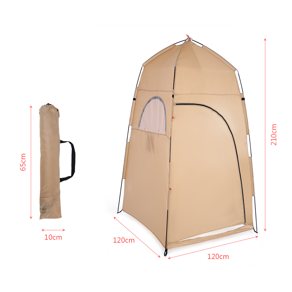 TOMSHOO Portable Camping Tent  With Large Zippered Door Used As Forest And Mountain 4