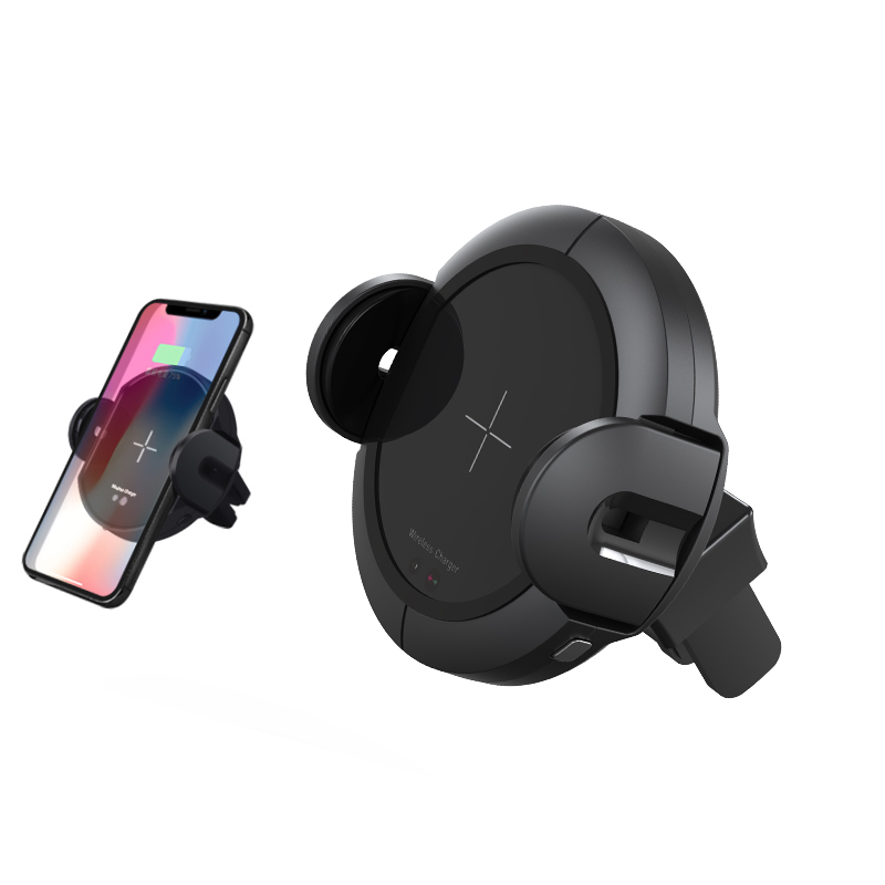 Infrared Sensor Car Mount Stand Automatic Wireless Charger For iphone X 8 Plus For Samsung S8 S9 S7 Note 9 8 QI Fast Charging in Mobile Phone Chargers from Cellphones Telecommunications
