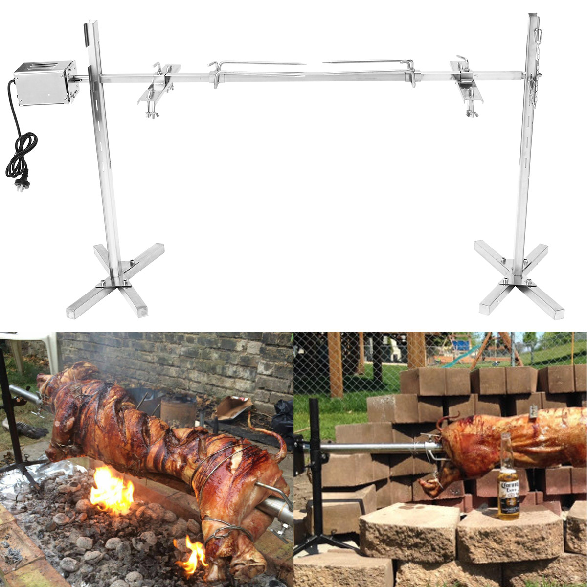 15W US Electric Automatic BBQ Grill Outdoor Camping Rotisserie Motor Roast Branch Metal Spit Roaster Rod Charcoal Pig Chicken15W US Electric Automatic BBQ Grill Outdoor Camping Rotisserie Motor Roast Branch Metal Spit Roaster Rod Charcoal Pig Chicken