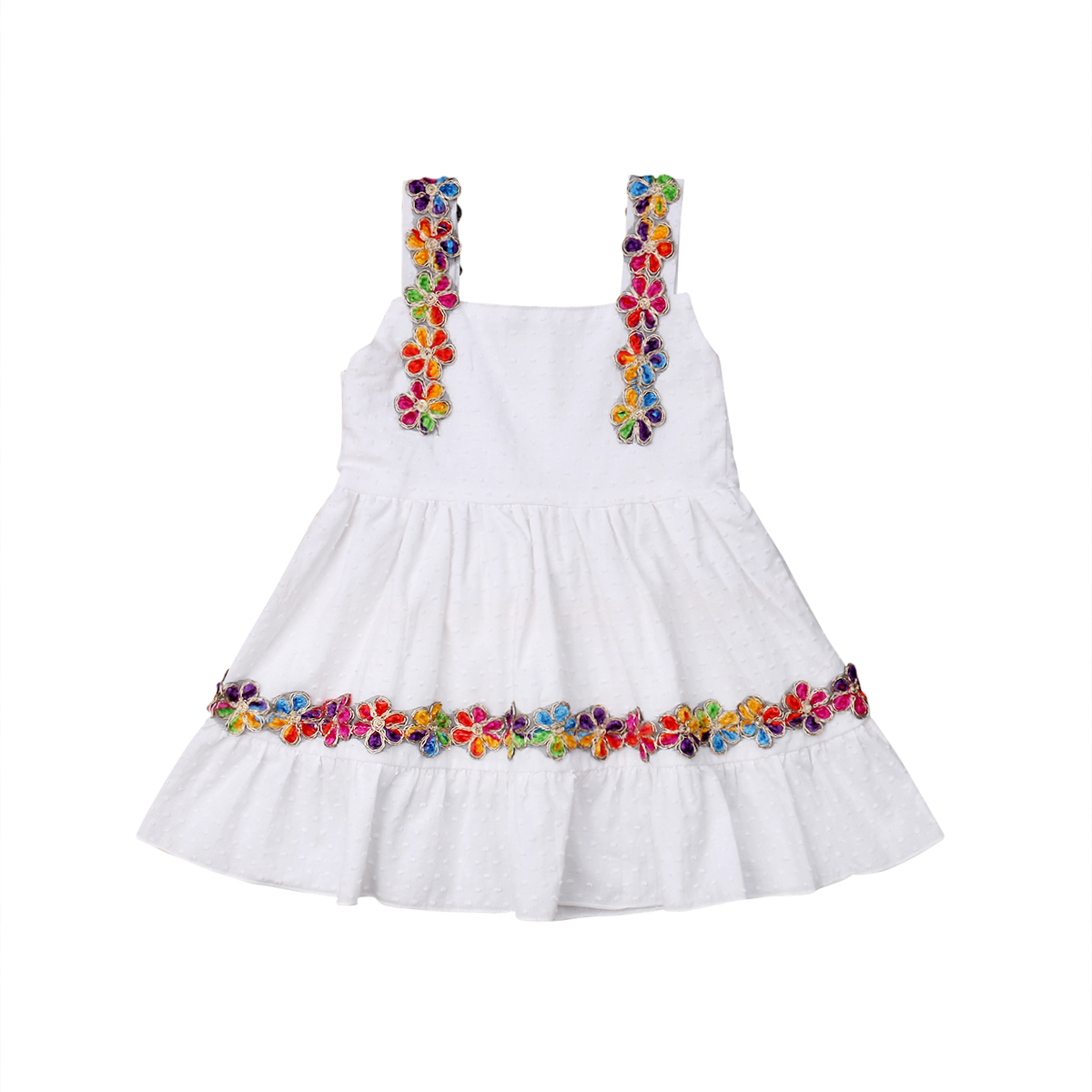 New Arrivals Embroidery Flower Toddler Kid Baby Girl -6078