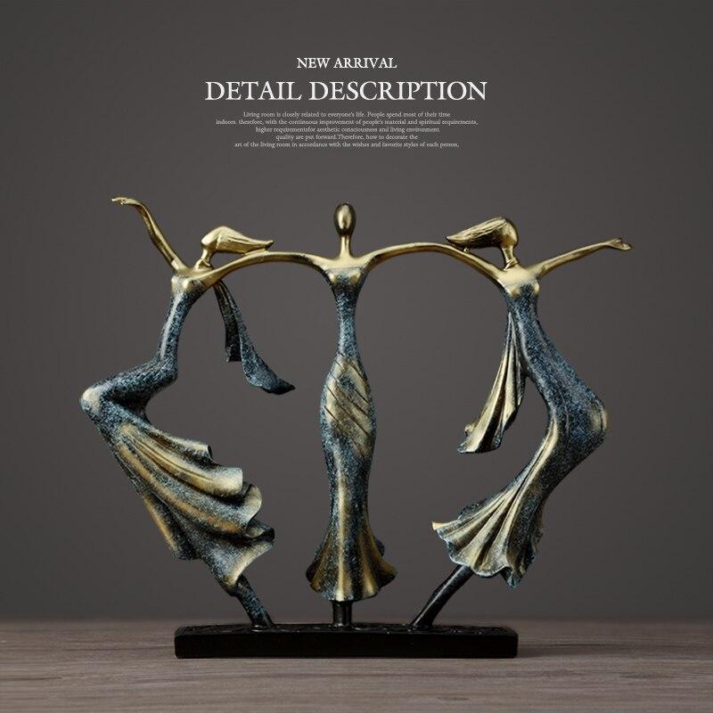 Cadeaux de mariage décor à la maison danse Couple Sculpture Statue amour décoration bureau artisanat résine abstraite amoureux Figurines ornement