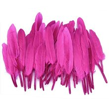 Approx. 50pcs 4-6 Inches Dyed Goose Feather for Decoration Craft---Pink