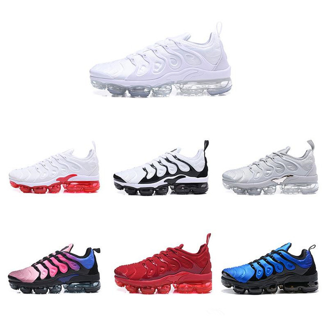 10175ad3c414 Vapormax Plus TN VM Triple Black Run In Metallic Mens Designer Shoes Men  Running Trainers Women Luxury Brand Sneakers