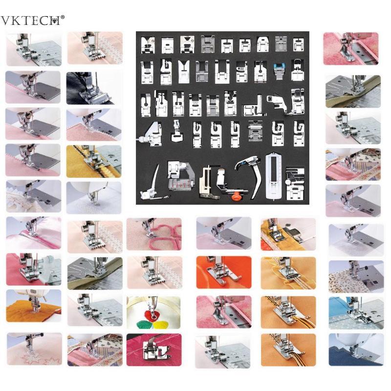 11/42pcs Mini Sewing Machine Presser Feet Multi function