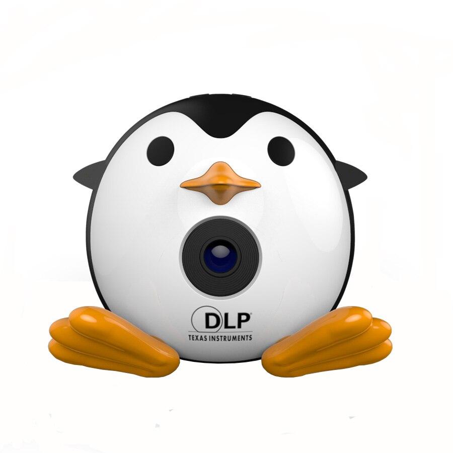 400 Lumen Leuke Pinguïn Micro Dlp Mobiele Led Projector Ondersteuning 1080 P Tf Usb Hdmi Av & Ios Android Ingang Met Batterij Ingebouwde Uitstekende (In) Kwaliteit