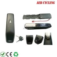 Frete grátis hailong tubarão para baixo tubo ebike bateria caso 52 pçs 18650 células ebike bateria caso para mountain bike Bateria de bicicleta elétrica     -