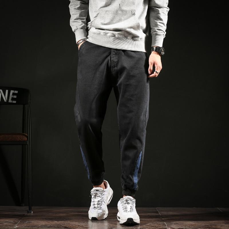 #2013 Autumn Winter Pencil Harem Denim Jeans Plus Size Biker Jeans Black Loose Vintage Japanese Streetwear Fashion Full Length 1