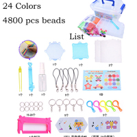 24 Colors 4800pcs Water Spray Magic Beads DIY Kit Ball Puzzle Game Fun DIY handmaking 3D puzzle Educational Toys For Children