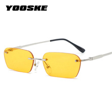 YOOSKE rimless sunglasses women luxury brand designer cat ey