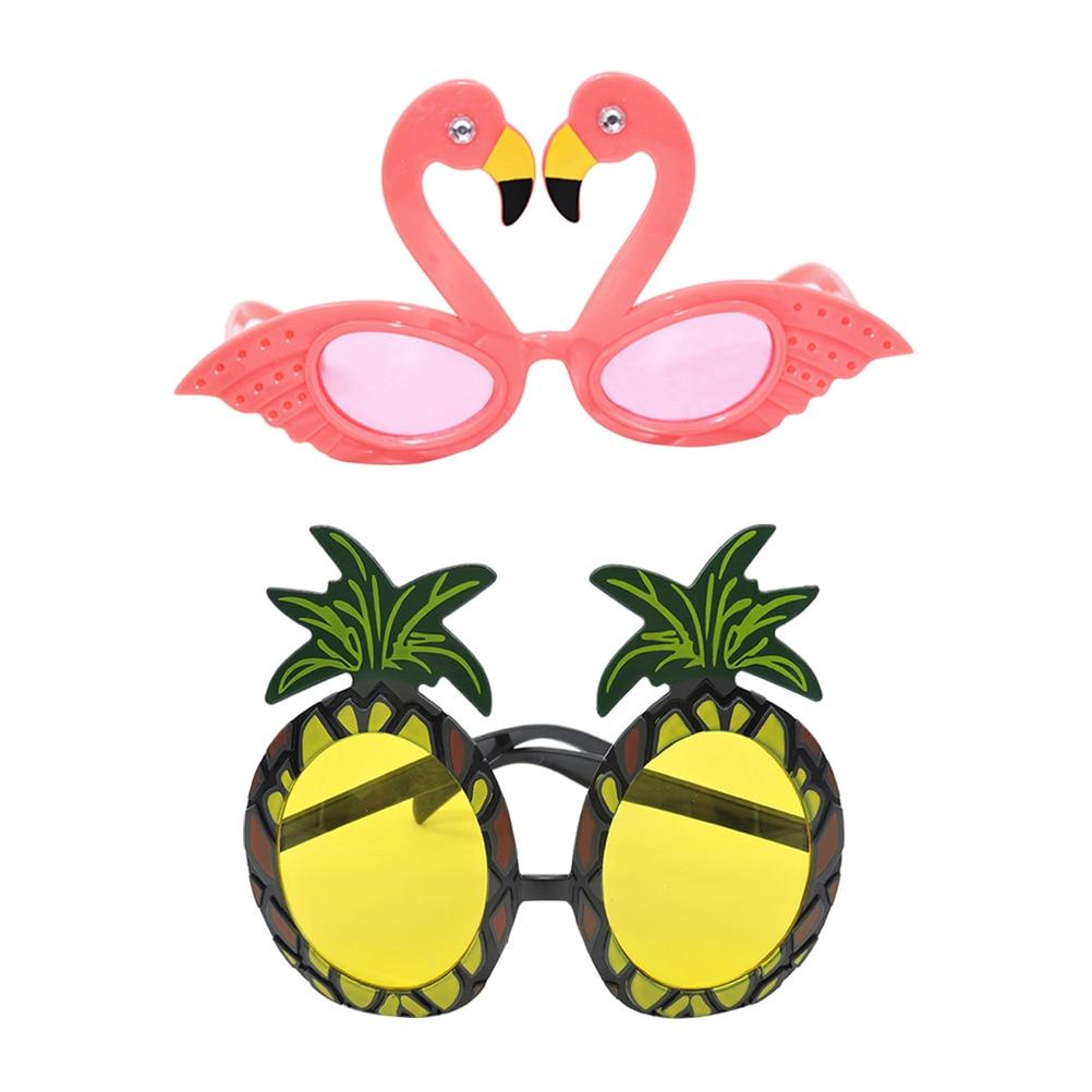 3Pcs Pineapple Glasses Funny Hawaiian Fruit Glasses for Dancing Party Carnival