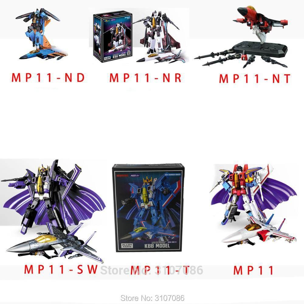 Transformacji G1 MP11 MP 11 STC silniki strumieniowe wzdłużne Thunder sześć brat F15 powietrza Craft Fighter ze stopu Oversize rysunek zabawkowe roboty w Figurki i postaci od Zabawki i hobby na  Grupa 1