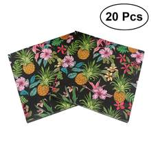 20Pcs Lunch Napkin Printed Napkin Paper for Birthday Dinner Party Favors Supplies (Pineapple Party)(China)