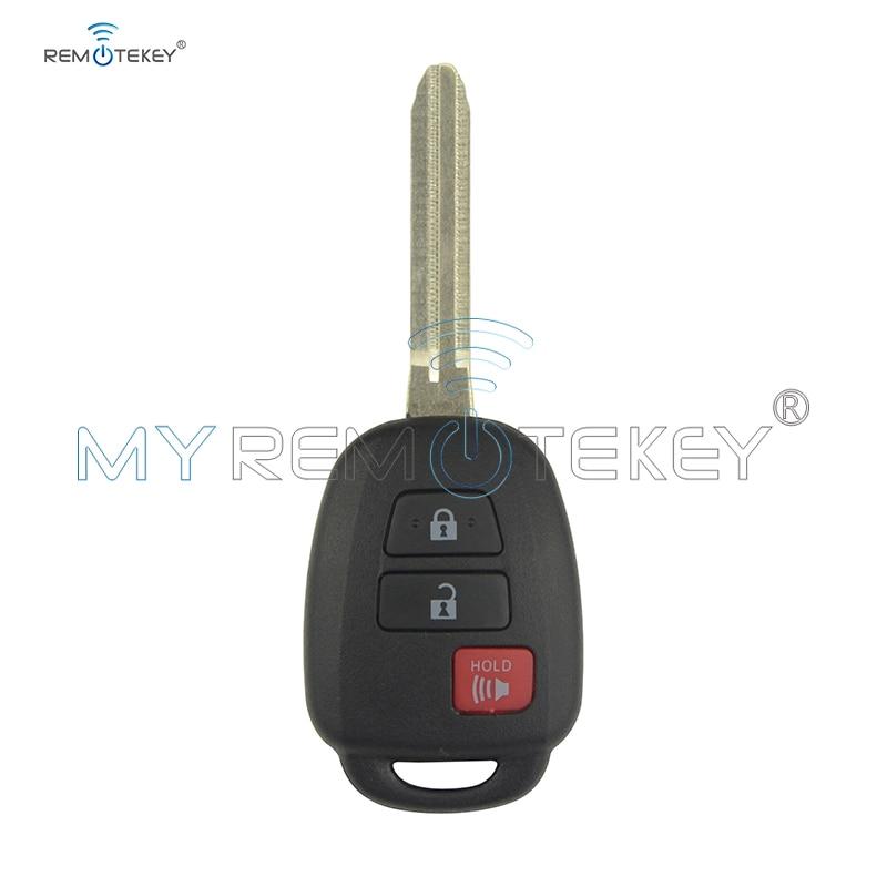 Remtekey Hyq12bdm 89070 06421/06420 Remote key 3 button 314.4Mhz H chip for Toyota Prius C HYQ 12B DM