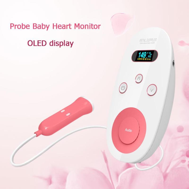 Rétro-éclairage LCD numérique FDA Doppler foetal 2 MHz sonde enfants bébé moniteur cardiaque