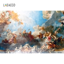 Laeacco Christian Painting Backdrop Cloudy Photography Backgrounds Customized Photographic Backdrops Props For Photo Studio