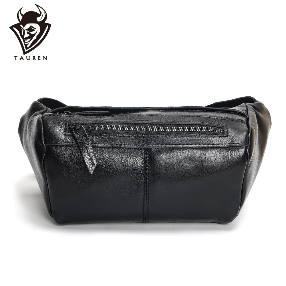 Fashion Men Waist Bag Casual Pu Leather Chain Shoulder Bags Zipper Chest Waist Bags Travel Chest