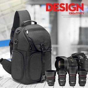 Image 1 - Multi Functionele Camera Rugzak Video Opslag Schouder Crossbody Bag Draagtas Outdoor Waterdichte Nylon Voor Dslr Camera Tas