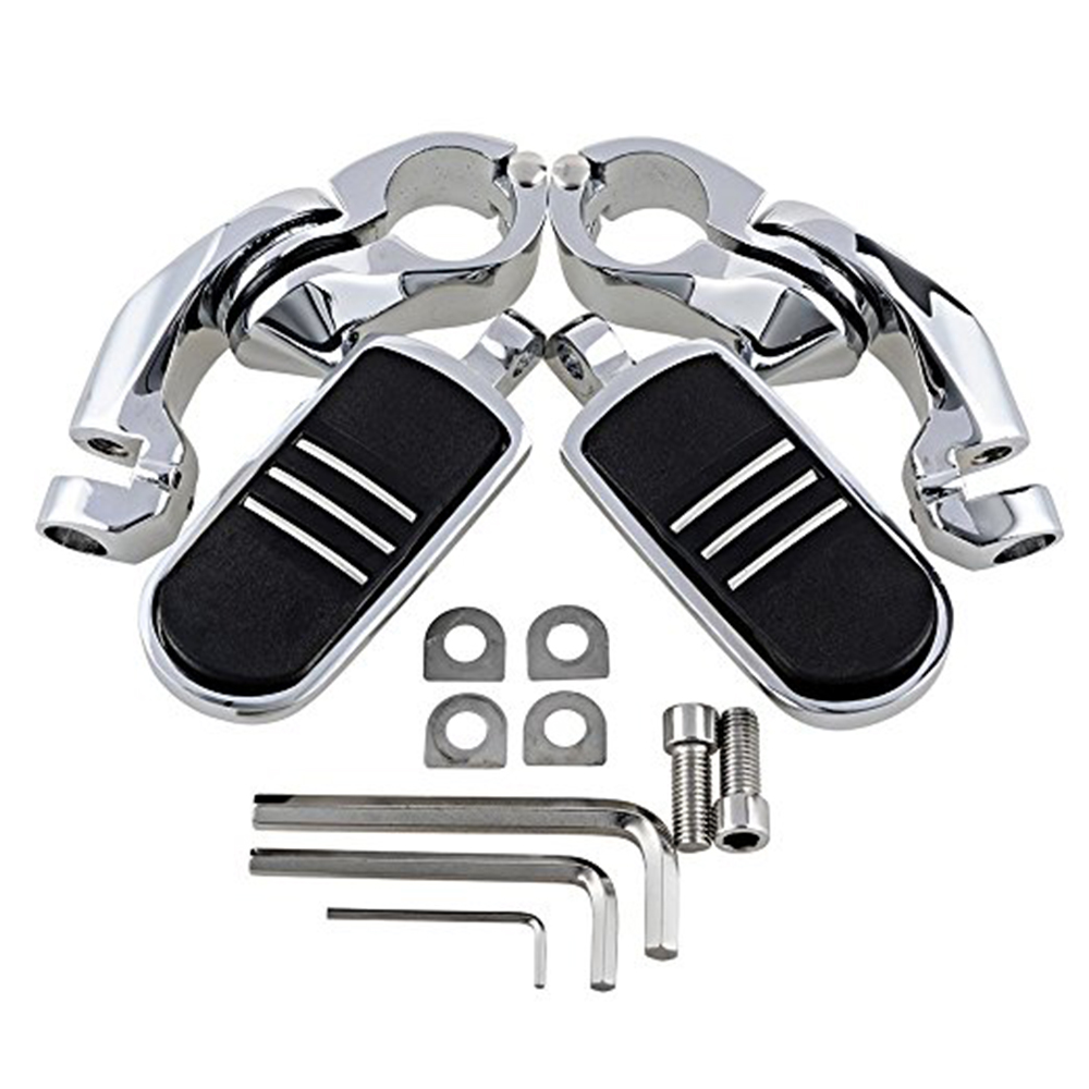 Image 5 - 1 Pair Motorcycle Engine Guard Highway Foot Pegs Footpeg Kit for Harley Davidson-in Foot Rests from Automobiles & Motorcycles