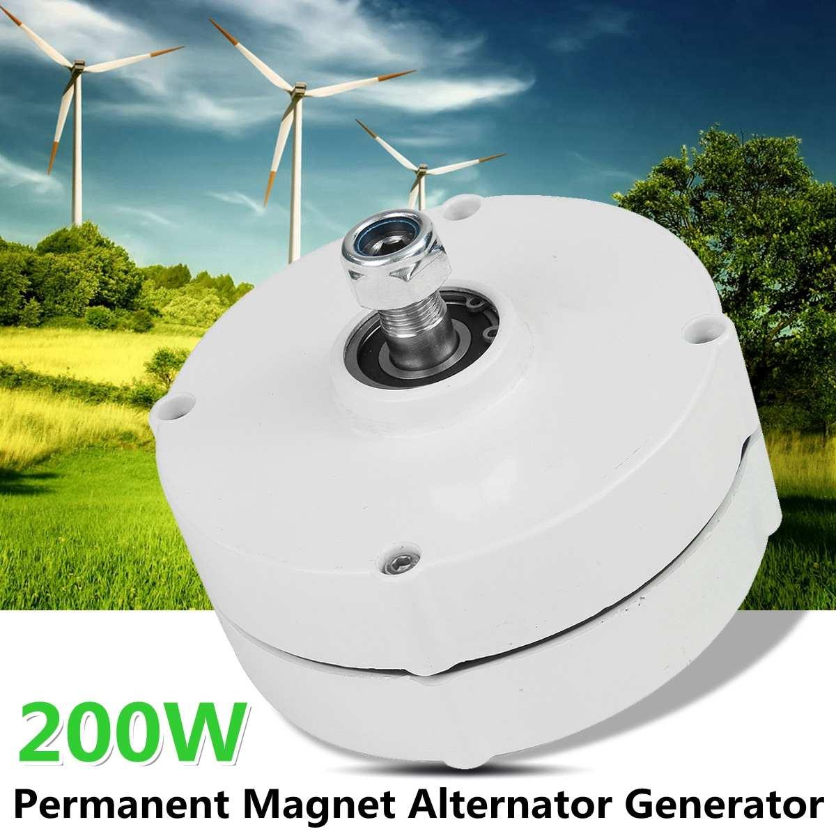 200W 600r/m 12/24V Permanent Magnet Generator AC Alternator for Vertical or Horizontal Wind T urbine 200W Wind Generator200W 600r/m 12/24V Permanent Magnet Generator AC Alternator for Vertical or Horizontal Wind T urbine 200W Wind Generator