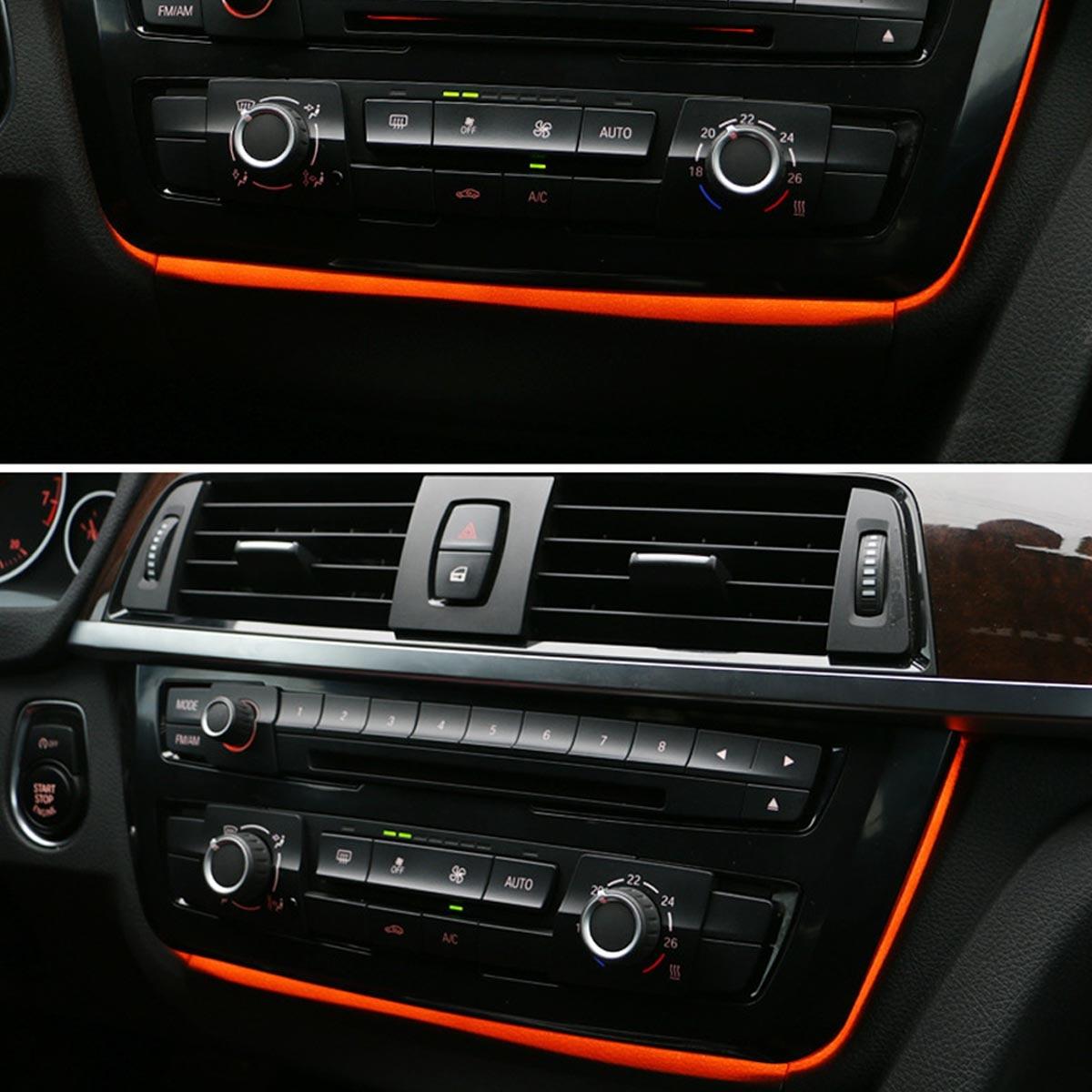 Para BMW F30 F31 F34 F82 M3 M4 Radio ajuste de CA Iluminado LED luz ambiental