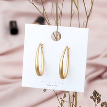 Gold Hoop Earrings Minimalist Thick Tube Round Circle Rings For Women Joker Ear Hoops Accessories
